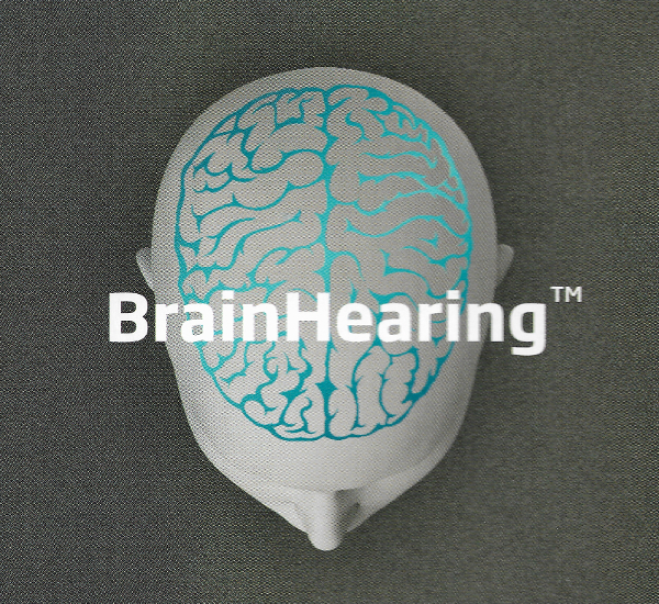Picture of Brain with Brain Hearing Text