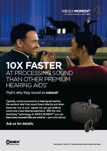 WIDEX MOMENT: 10x Faster at Processing Sound